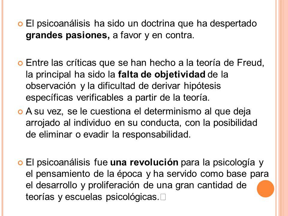30/03/09 El psicoanálisis ha sido un doctrina que ha despertado grandes pasiones, a favor y en contra.