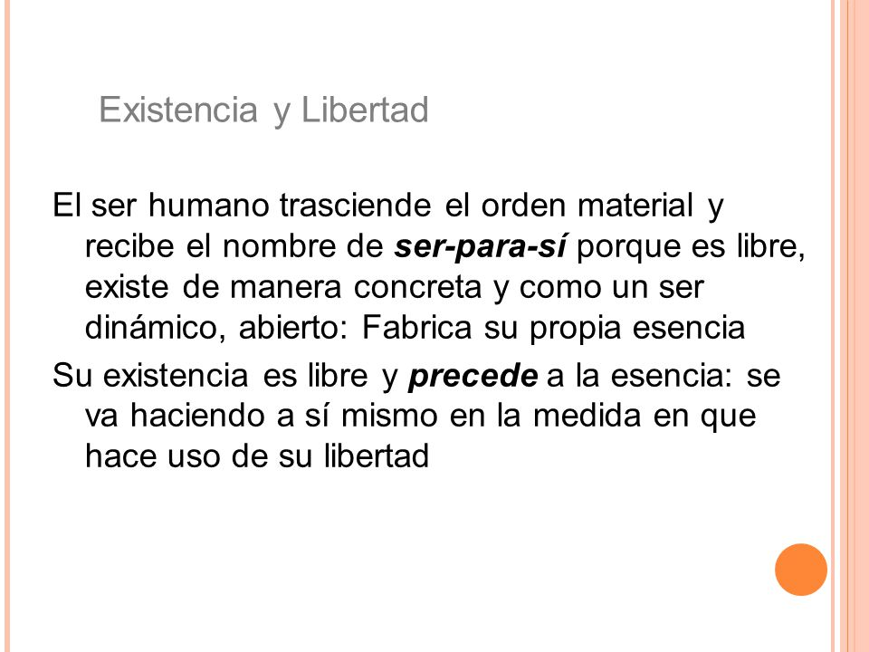 Existencia y Libertad