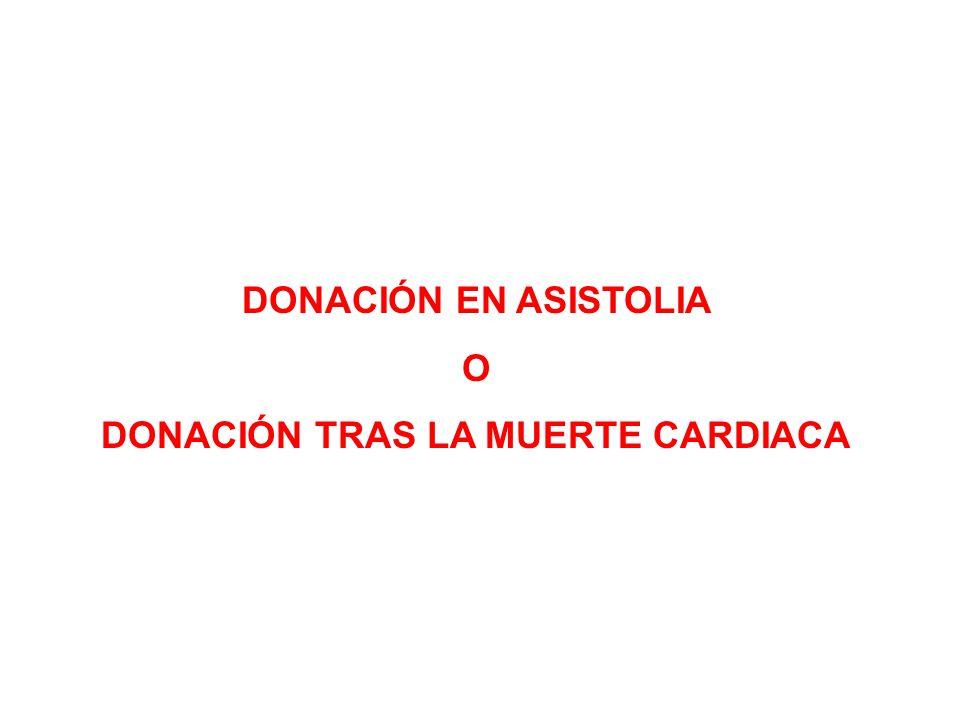 DONACIÓN TRAS LA MUERTE CARDIACA