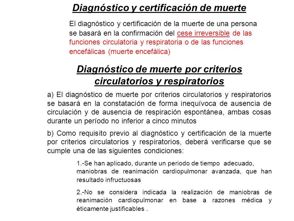 Diagnóstico y certificación de muerte