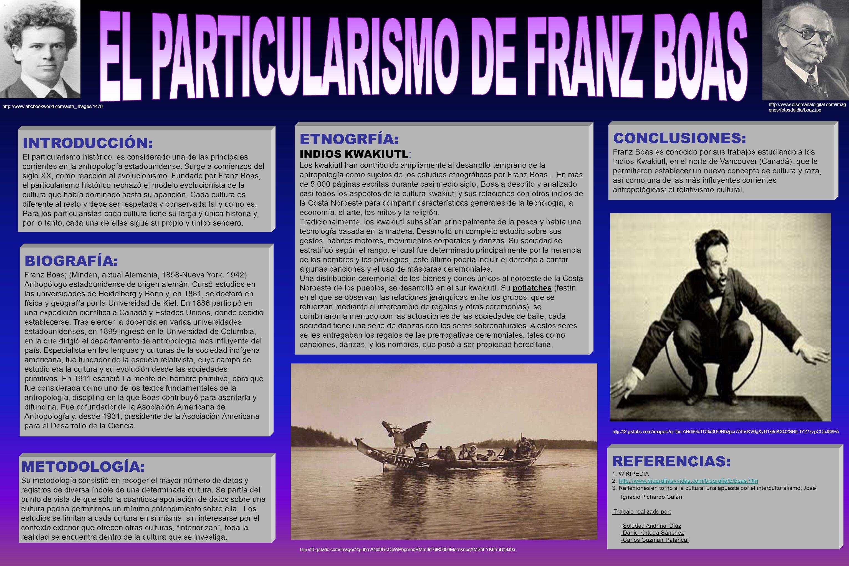 EL PARTICULARISMO DE FRANZ BOAS