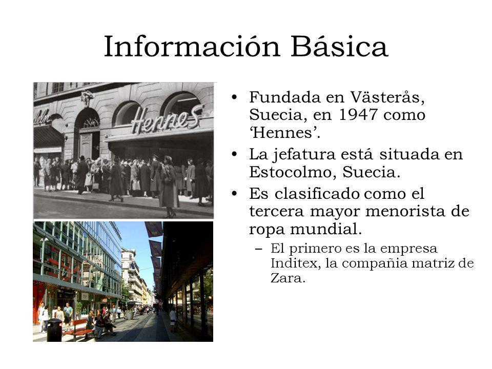 Información Básica Fundada en Västerås, Suecia, en 1947 como 'Hennes'.