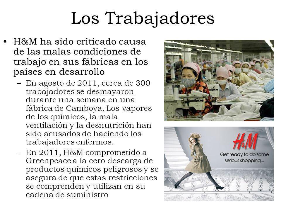 Los TrabajadoresH&M ha sido criticado causa de las malas condiciones de trabajo en sus fábricas en los países en desarrollo.