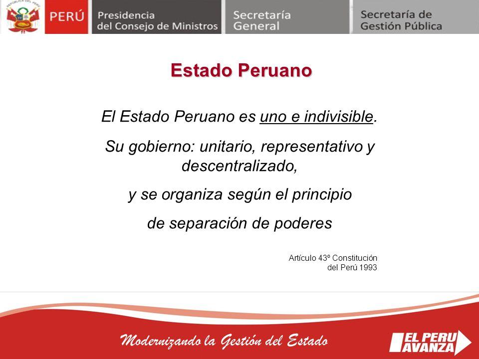 Estado Peruano Modernizando la Gestión del Estado