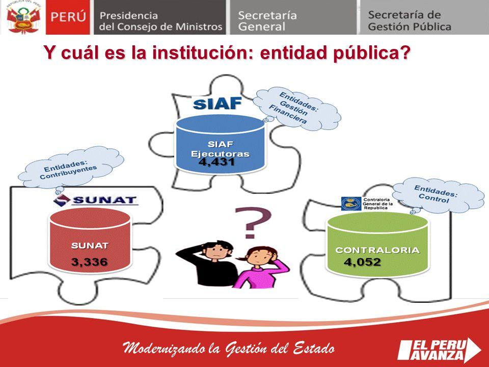 Y cuál es la institución: entidad pública