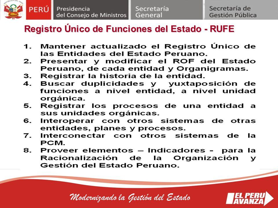 Registro Único de Funciones del Estado - RUFE