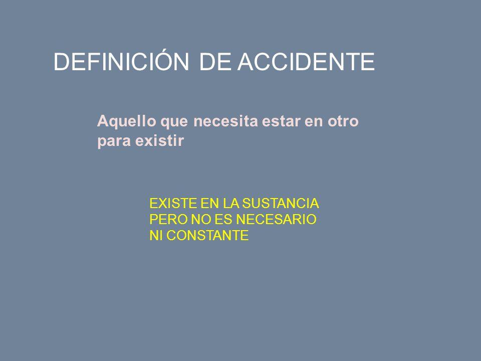 DEFINICIÓN DE ACCIDENTE