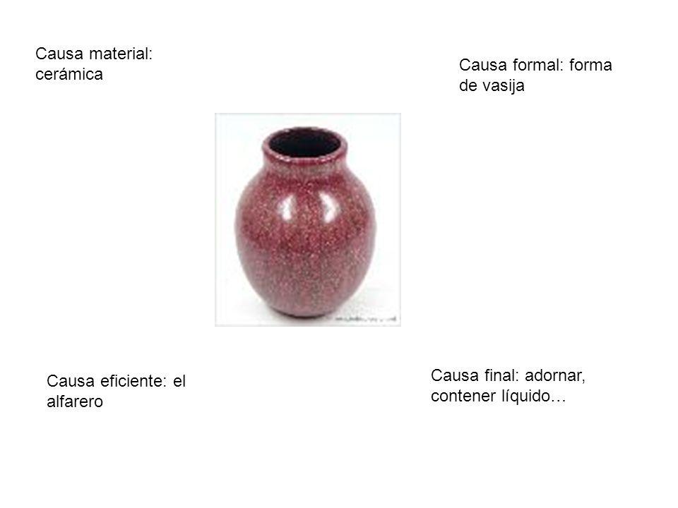 Causa material: cerámica