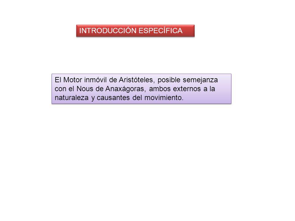 INTRODUCCIÓN ESPECÍFICA
