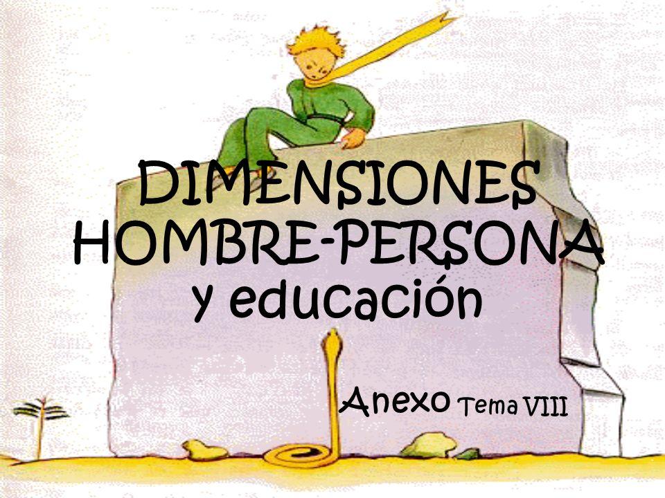 DIMENSIONES HOMBRE-PERSONA y educación