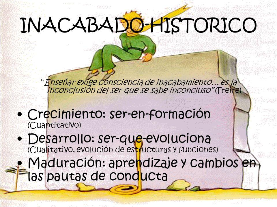 INACABADO-HISTORICO Crecimiento: ser-en-formación (Cuantitativo)