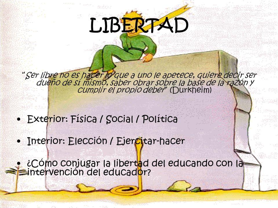 LIBERTAD Exterior: Física / Social / Política