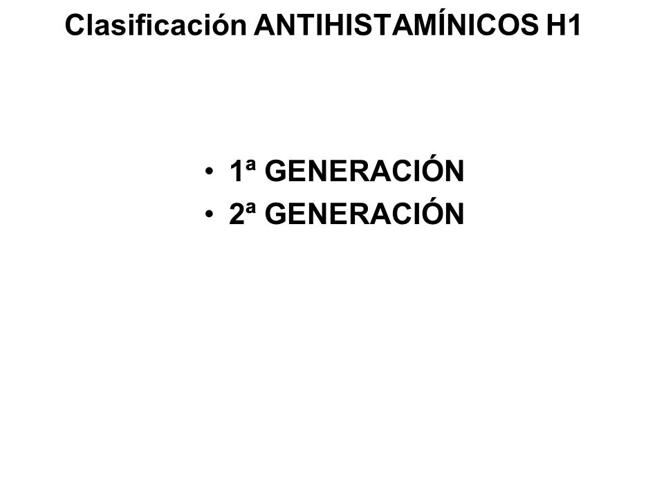 Clasificación ANTIHISTAMÍNICOS H1