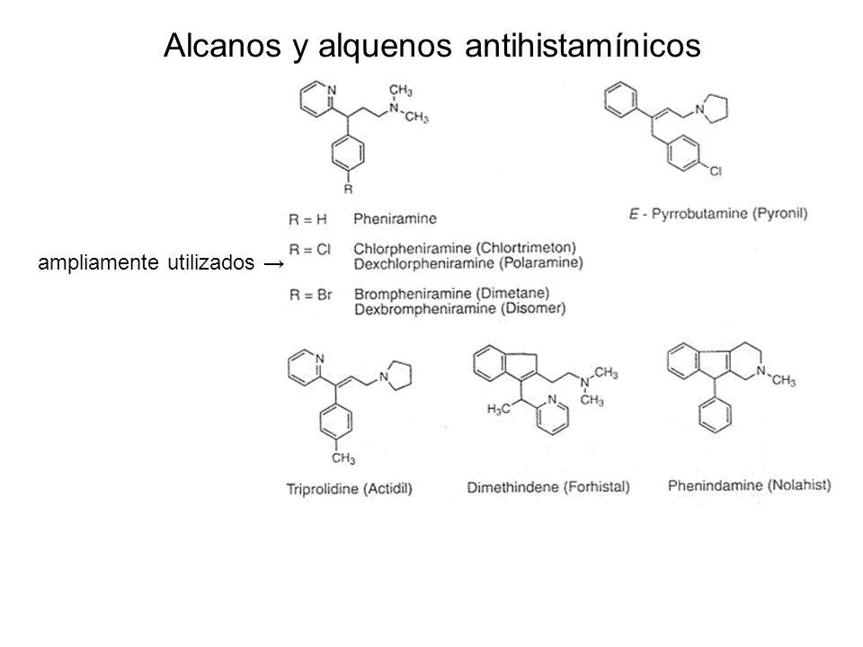 Alcanos y alquenos antihistamínicos