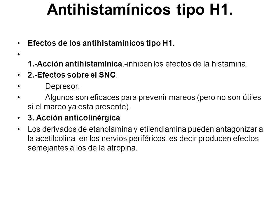 Antihistamínicos tipo H1.