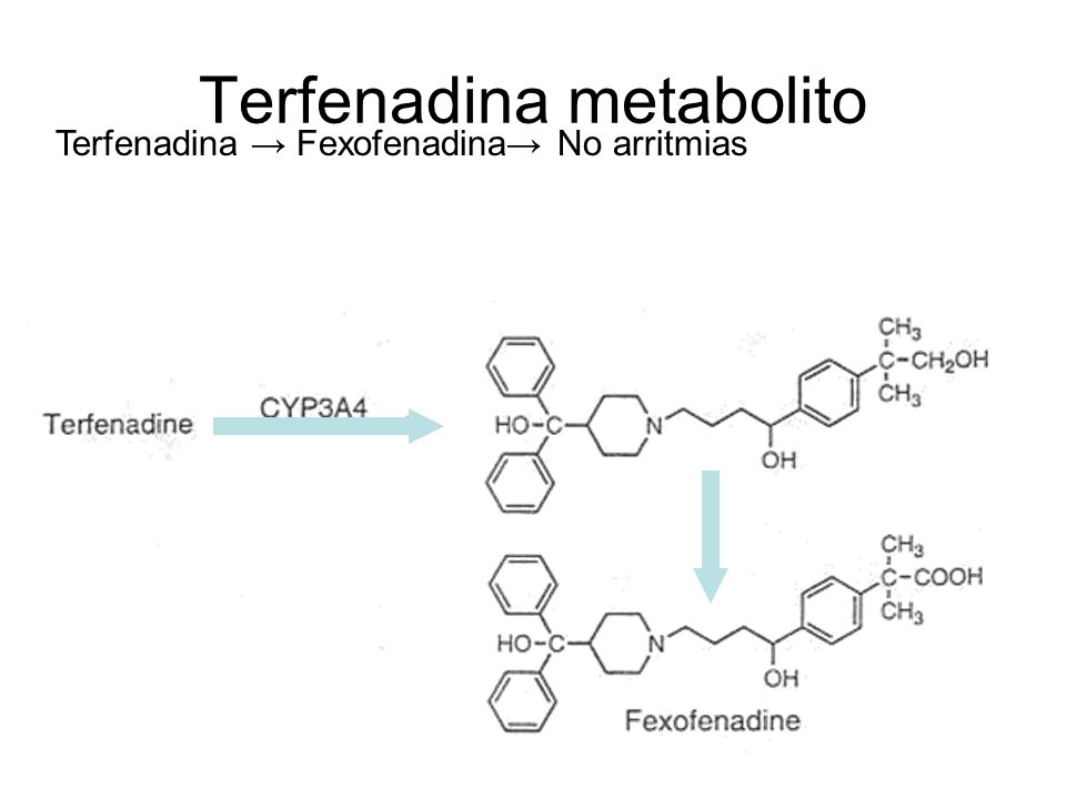 Terfenadina metabolito