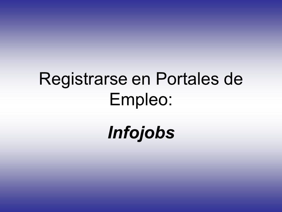 Registrarse en Portales de Empleo: