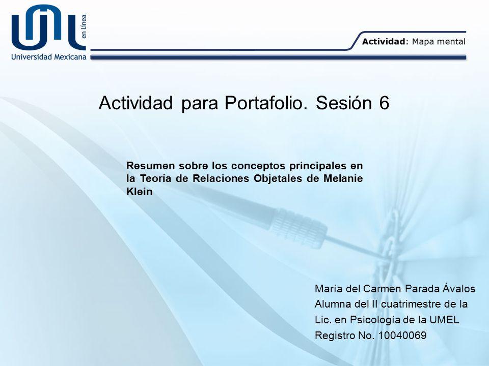 Actividad para Portafolio. Sesión 6