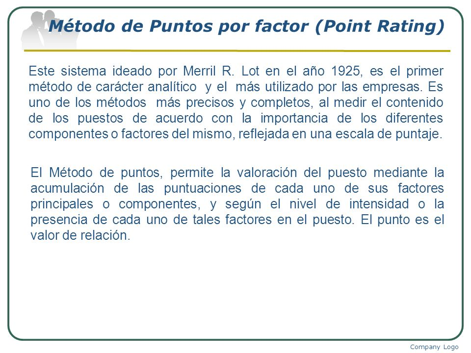 Método de Puntos por factor (Point Rating)