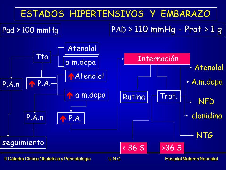 ESTADOS HIPERTENSIVOS Y EMBARAZO