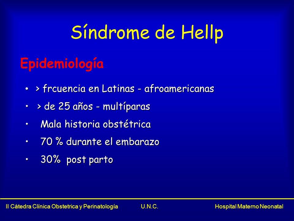 Síndrome de Hellp Epidemiología