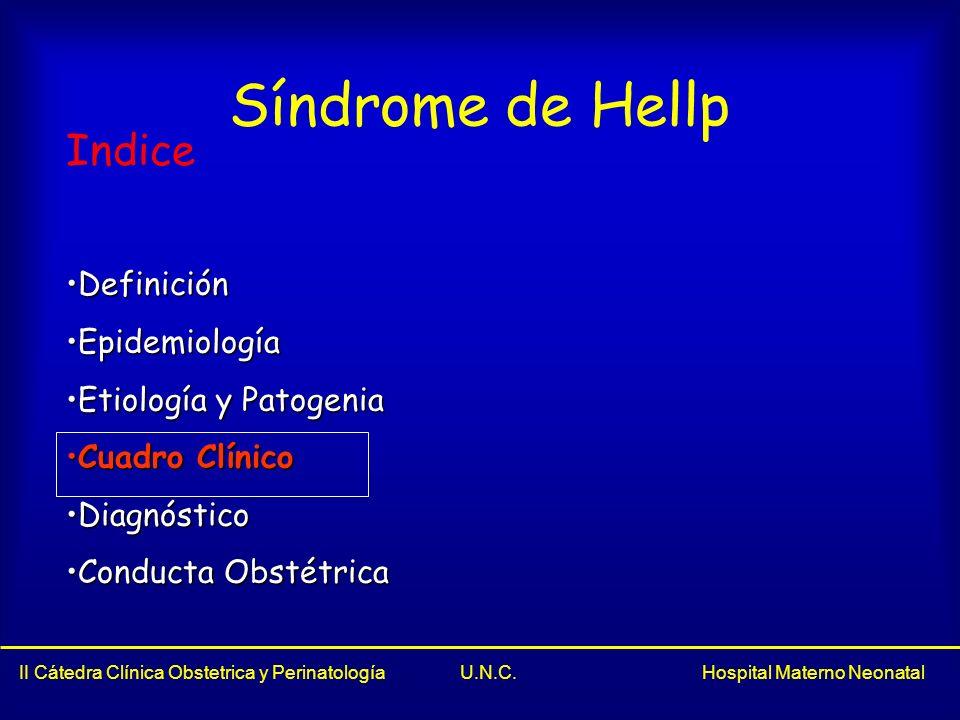 Síndrome de Hellp Indice Definición Epidemiología