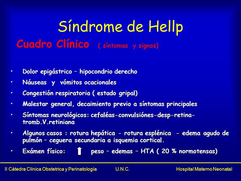 Síndrome de Hellp Cuadro Clínico ( síntomas y signos)