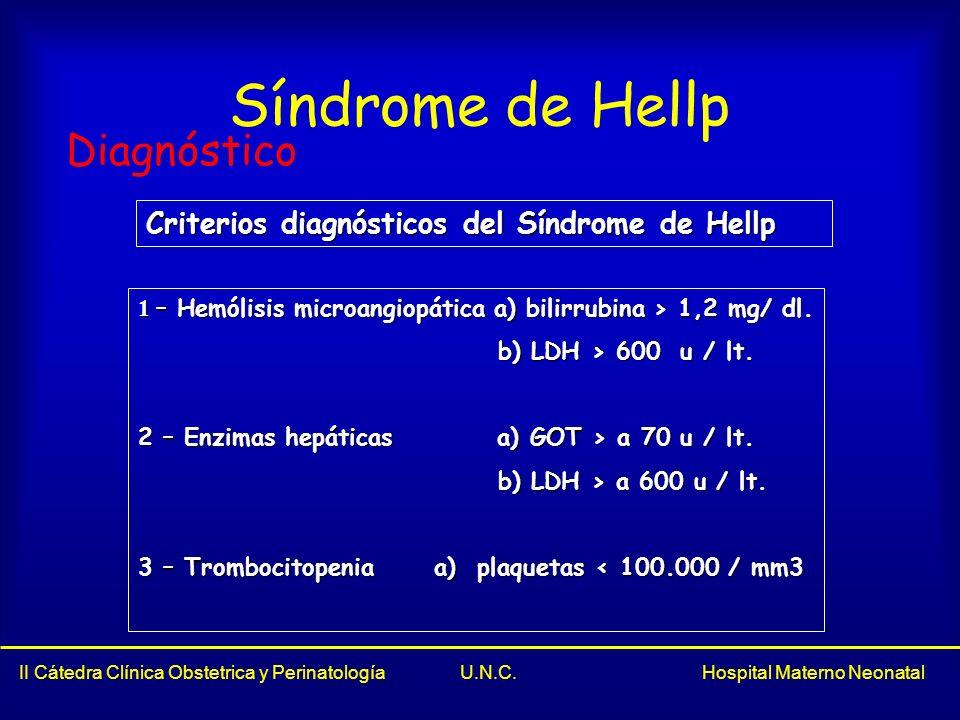 Síndrome de Hellp Diagnóstico