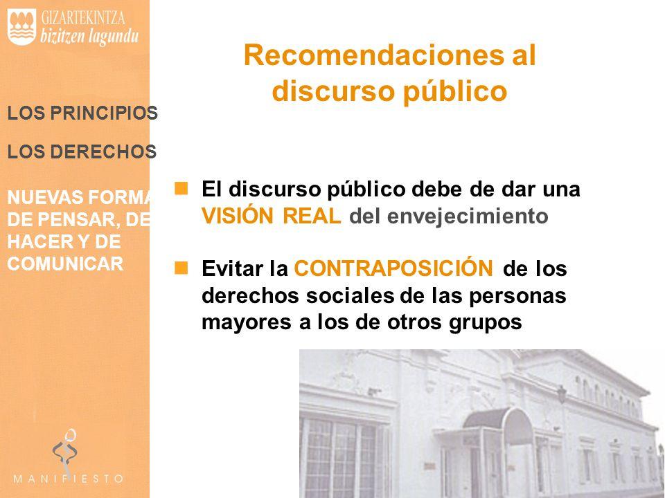 Recomendaciones al discurso público