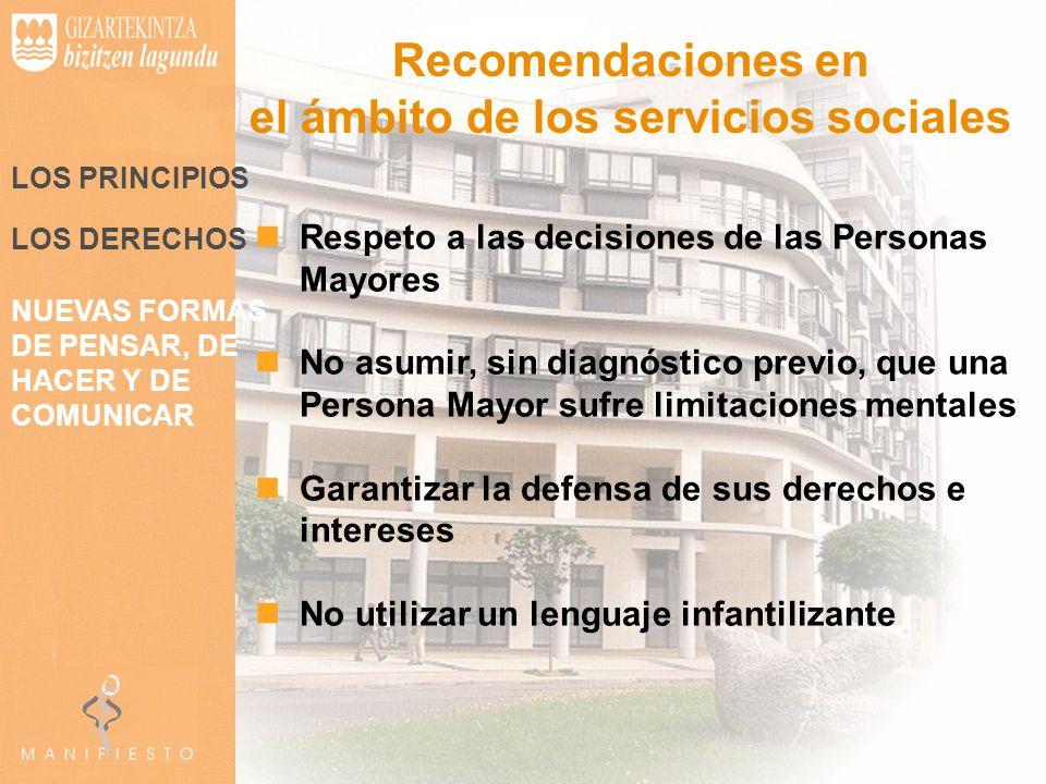 el ámbito de los servicios sociales