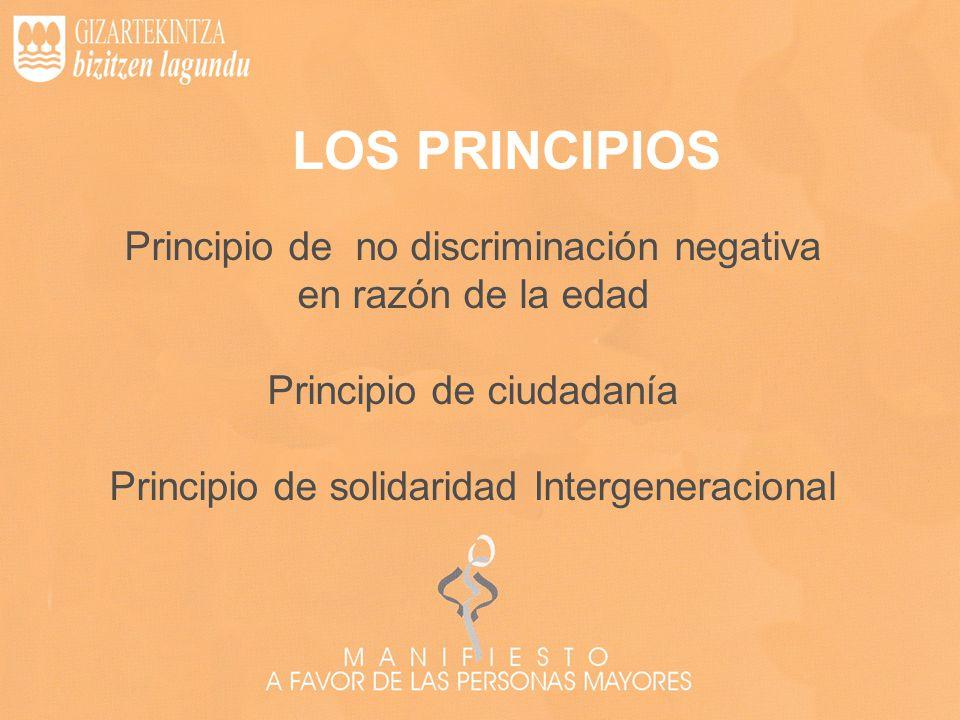 LOS PRINCIPIOS Principio de no discriminación negativa