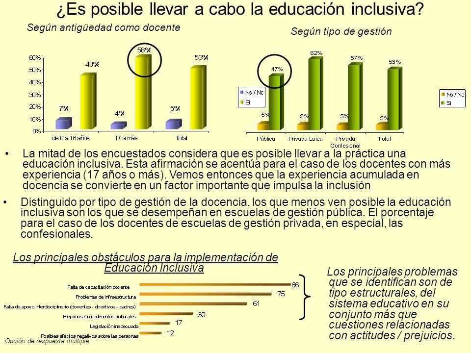 ¿Es posible llevar a cabo la educación inclusiva