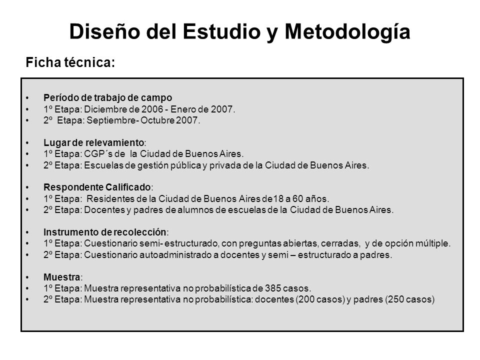 Diseño del Estudio y Metodología