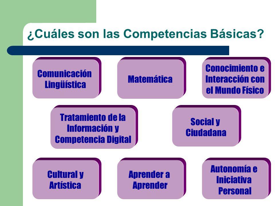 ¿Cuáles son las Competencias Básicas