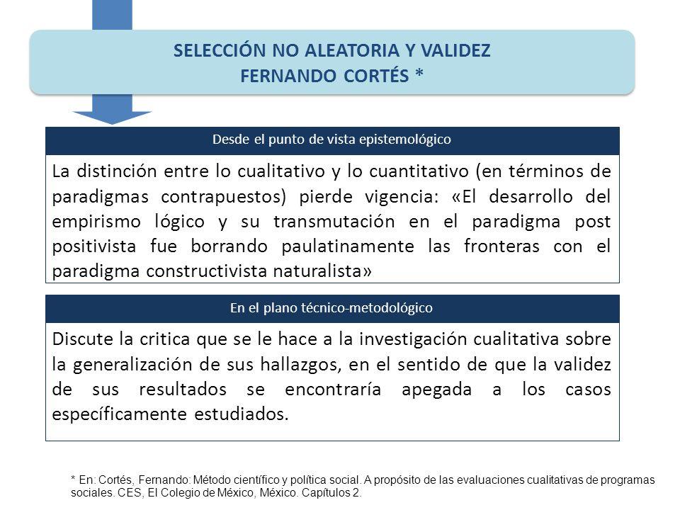 SELECCIÓN NO ALEATORIA Y VALIDEZ