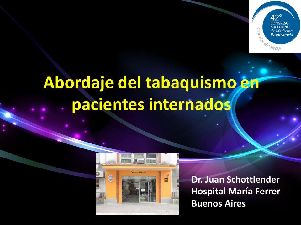 Abordaje del tabaquismo en pacientes internados