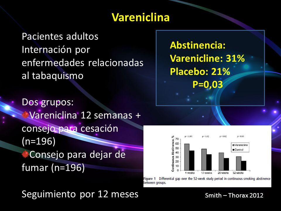 Vareniclina Pacientes adultos