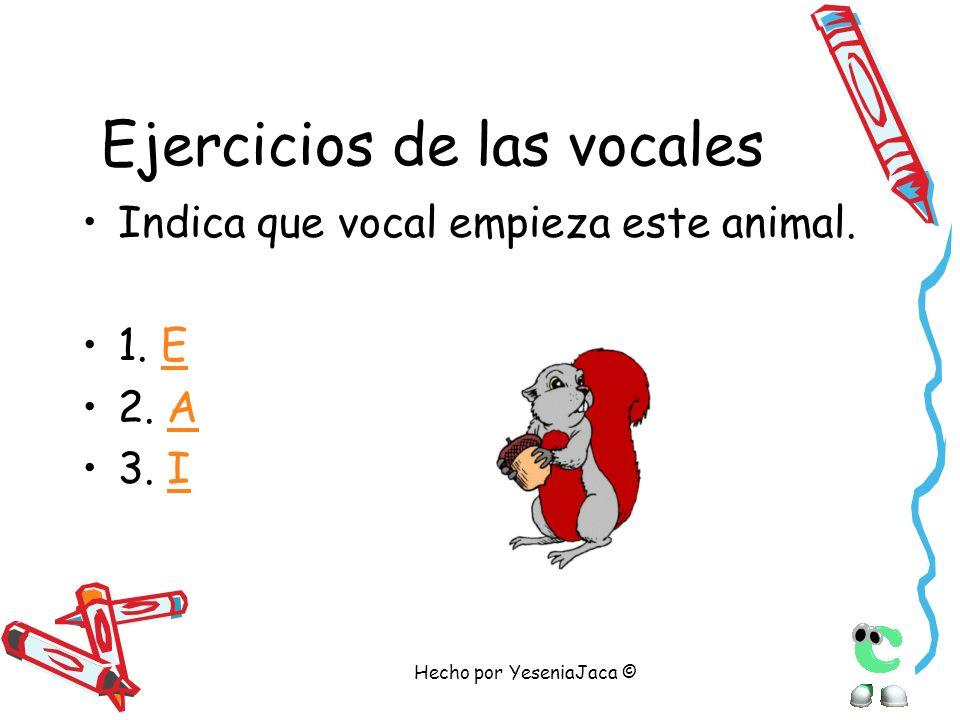 Ejercicios de las vocales