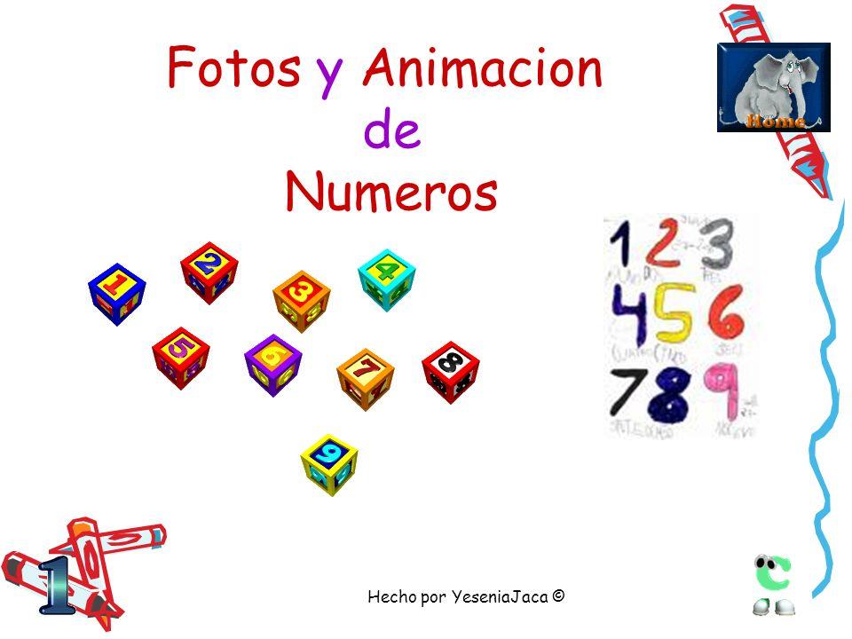 Fotos y Animacion de Numeros