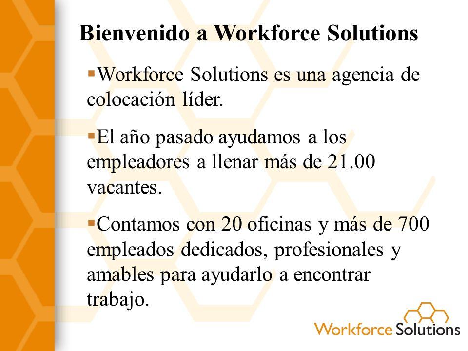 Bienvenido a Workforce Solutions