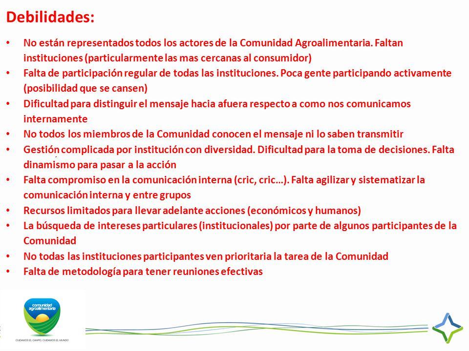Debilidades: