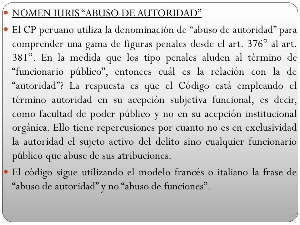 NOMEN IURIS ABUSO DE AUTORIDAD