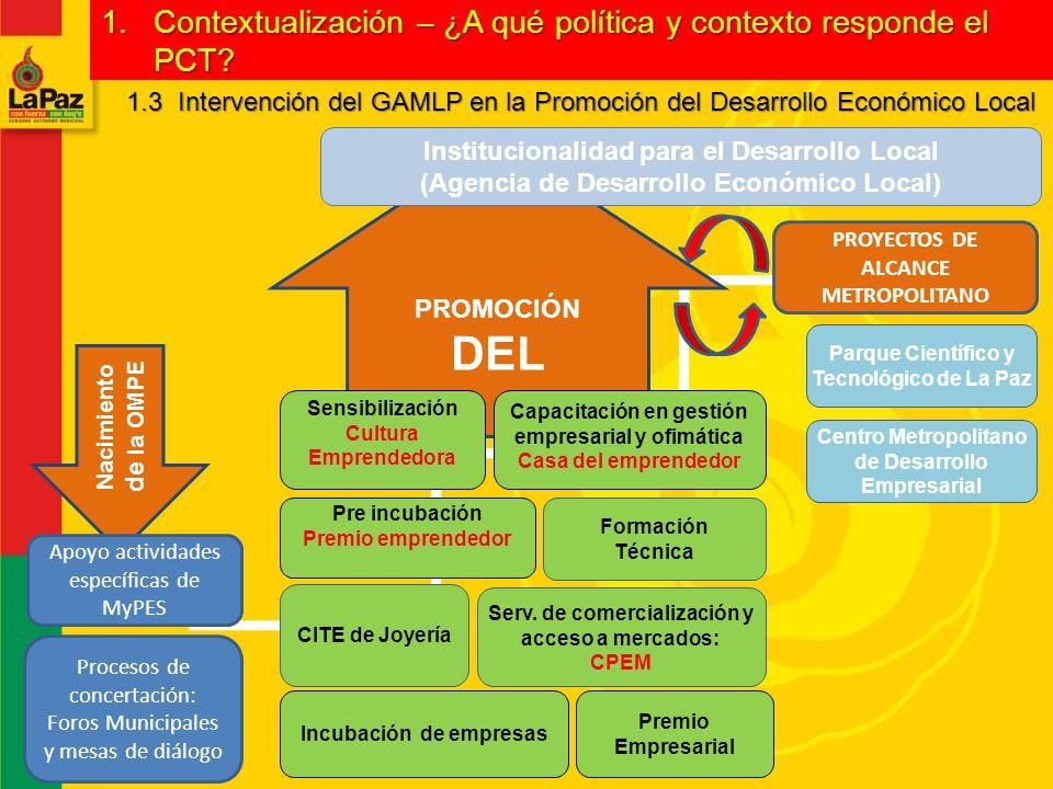 DEL Contextualización – ¿A qué política y contexto responde el PCT