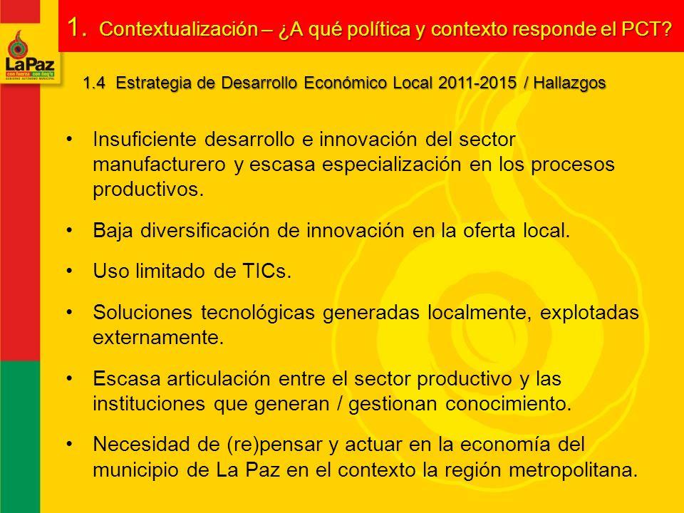 1. Contextualización – ¿A qué política y contexto responde el PCT