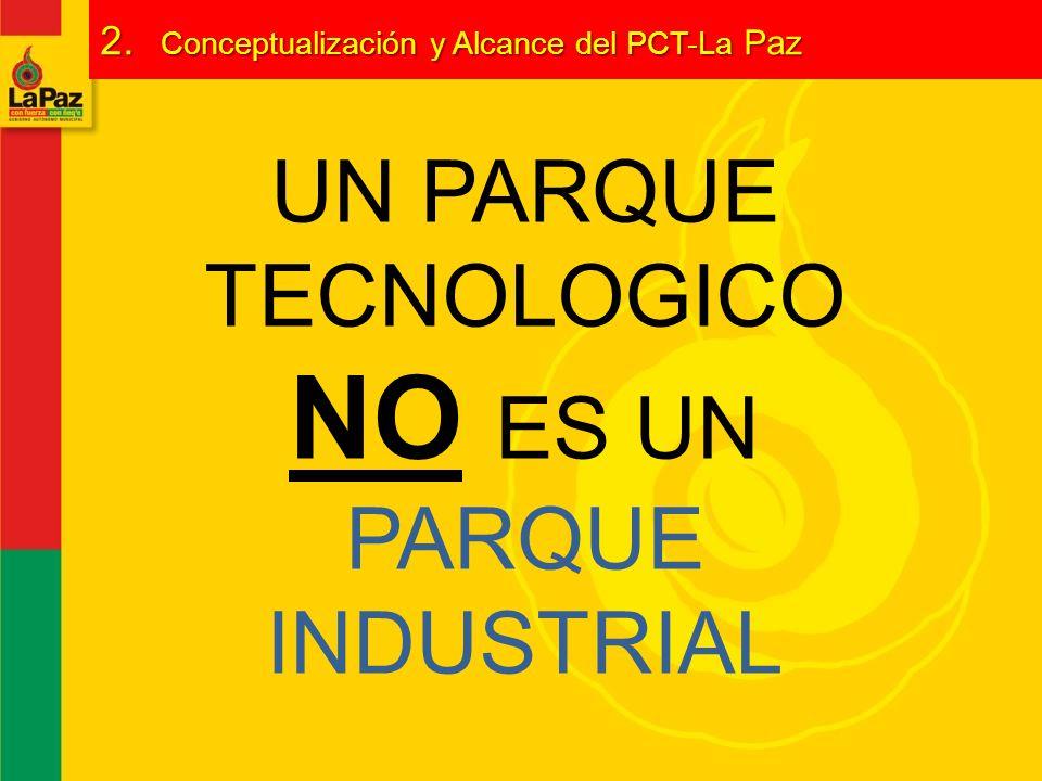 UN PARQUE TECNOLOGICO NO ES UN PARQUE INDUSTRIAL