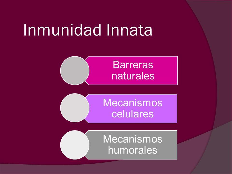 Inmunidad Innata Barreras naturales Mecanismos celulares