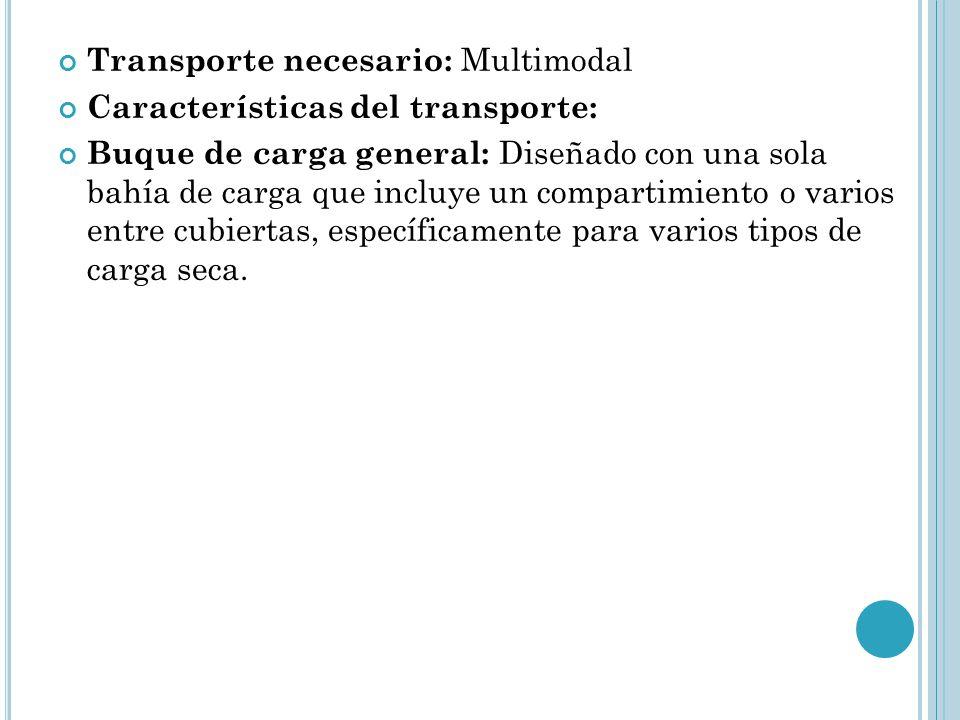 Transporte necesario: Multimodal