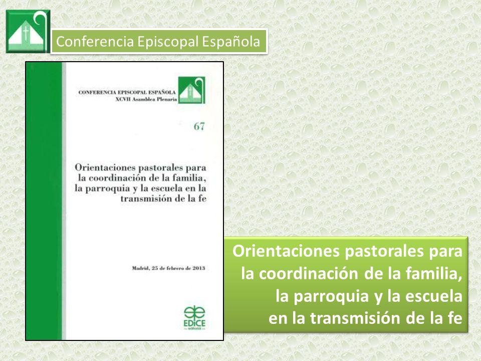 Orientaciones pastorales para la coordinación de la familia,