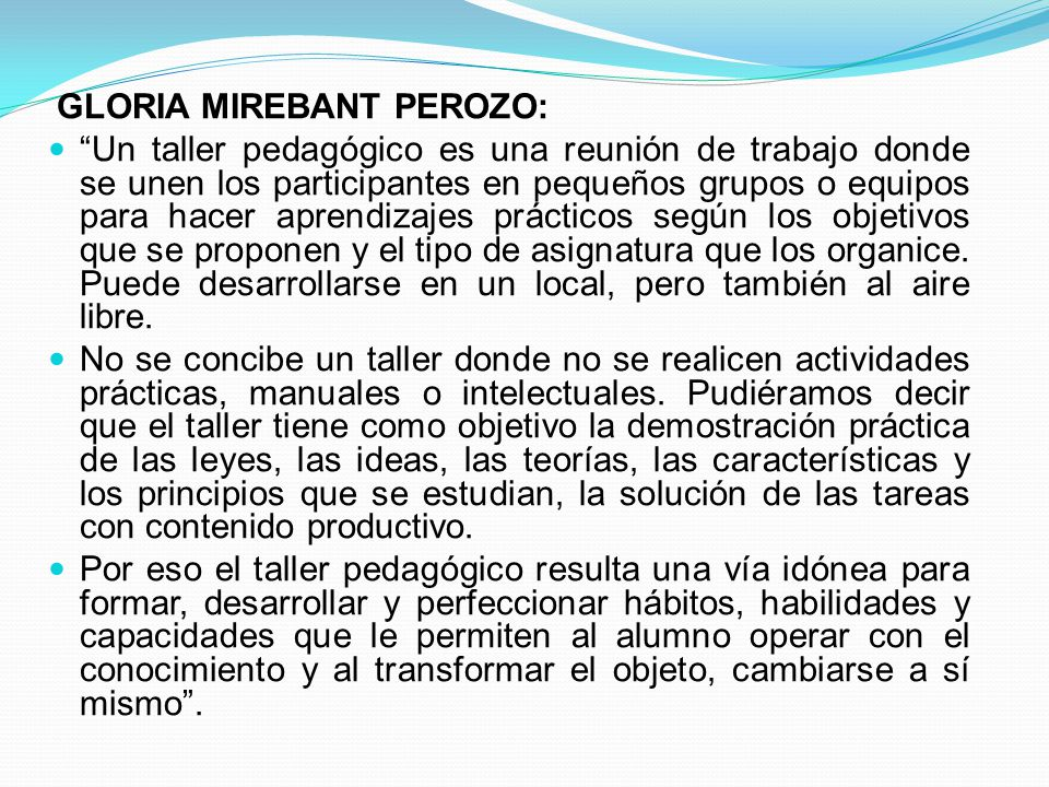 GLORIA MIREBANT PEROZO: