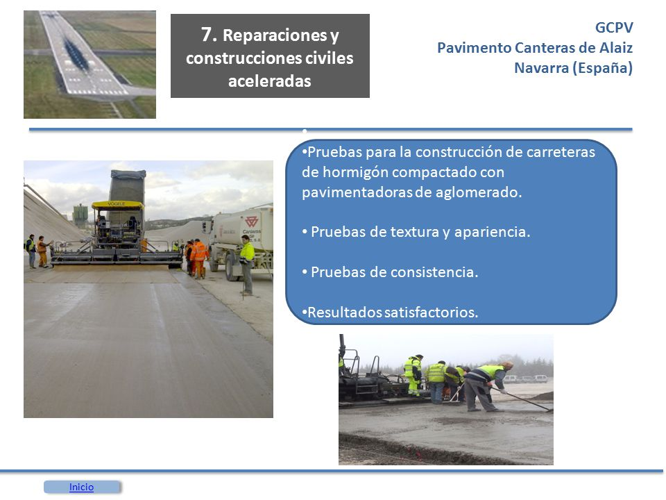 7. Reparaciones y construcciones civiles aceleradas
